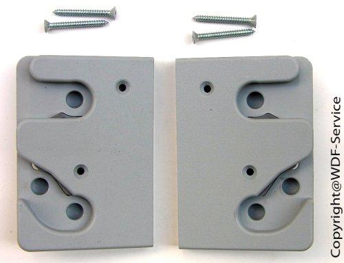 Schließplatten-Set grau, für Braas/Dörken-Atelier-Fenster (BA/DA)