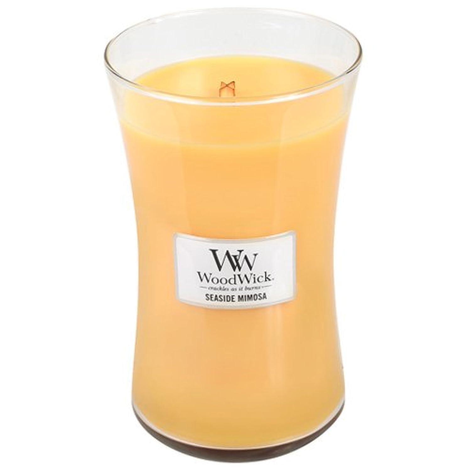 急行する酸化物チェスをするSeasideミモザWoodWick 22oz香りつきJar Candle Burns 180時間