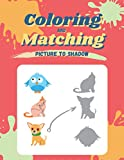 Coloring and Matching Picture to shadow: Activity Book for kids