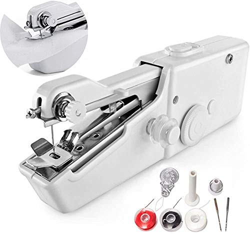 Great Features Of Handheld Sewing Machine Portable Hand Wireless Home Light Stitch Clothes Fast Stit...