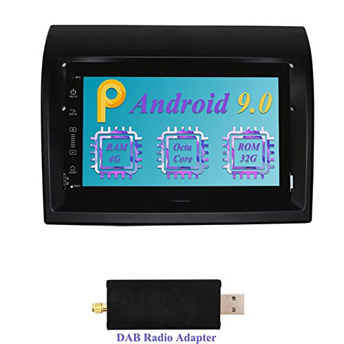 Dimost 7 Pulgadas Android 9.0 Autoradio 8-Core 4GB RAM 32GB ROM Car Radio Navegacion GPS In Dash Radio de Coche para Fiat Ducato/Peugeot Boxer/Citroen Jumper (con Adaptador Dab)