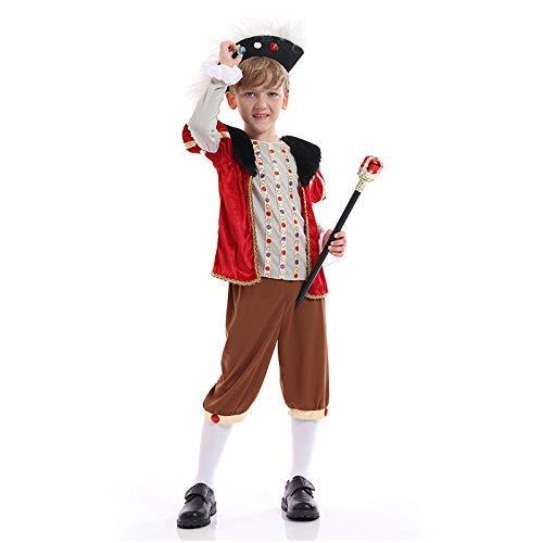 LLSS Cosplay Halloween Navidad Novedad Regalo Disfraz para niños Rey Disfraz de príncipe Traje de Corte Retro Europeo Reina Reina Disfraz de Princesa