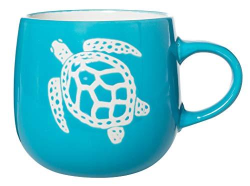 Cape Shore 12.5oz Stoneware Textured Batik Mug, Multiple Styles Available (Turtle)