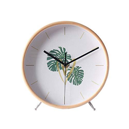 Reloj de escritorio Reloj de escritorio Reloj Sin tictac Reloj silencioso Decoración de escritorio para el hogar Madera maciza Reloj simple Decoración Reloj de péndulo de escritorio Reloj de dormitori