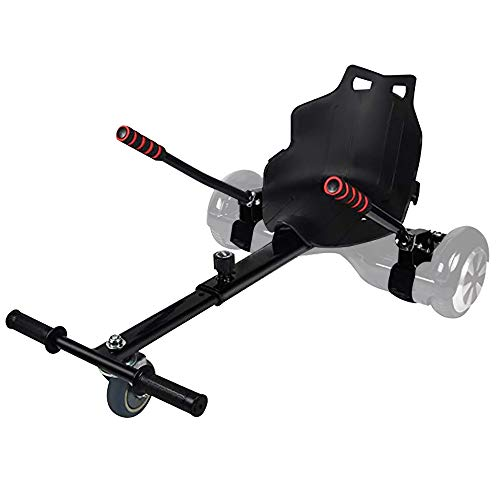 YOLEO Hoverboard Sitz, Hoverboard Kart Aufsatz, Sitzscooter Sitz für Elektroscooter Kinder Erwachsene 58 × 44 cm(Hoverboard Zubehör) (Schwarz)
