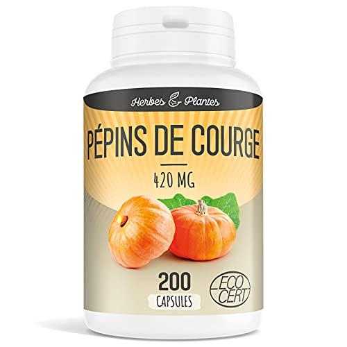 Herbes Et Plantes Pépin de Courge Bio 200 Capsules 420 mg