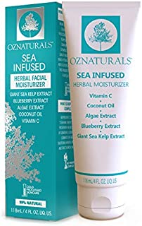 OZNaturals Day Cream Firming Cream - Face Tightening and Lifting Cream with Vitamin C, Sea Kelp & Algae Extract - Light Weight Moisturizing Face Lotion Non Comedogenic Won't Clog Pores - 4 Fl Oz