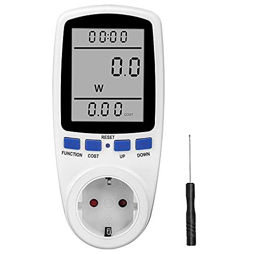 otutun Misuratore di Consumo Elettrico, Misuratore di Potenza Contatore del Consumo di Corrente Wattmetro dell'Energia Elettrica con 7 Modalità e Display LCD, Protezione da Sovraccarico 3680W
