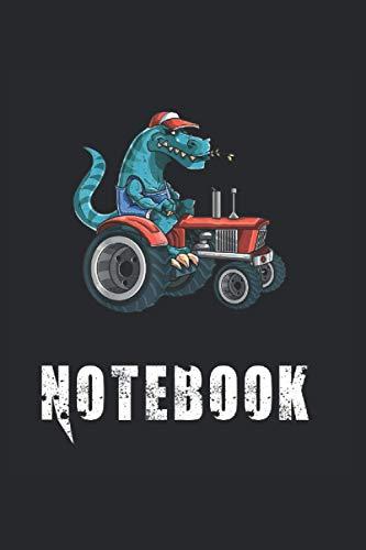 Notebook: Krokodil, Bauer mit Traktor, Bauernhof Notizbuch. Ein Taschenbuch A5 mit 108 karierte Seiten. Ein Motiv für Landwirte, Bauern, Bäuerin, ... Männer, Mädchen und Jungen. Cooles Motiv.