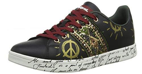 Desigual Shoes Cosmic Exotic, Scarpe da Ginnastica Basse Donna, Nero (Black 2000), 36 EU