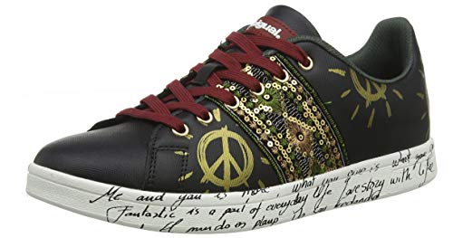 Desigual Shoes Cosmic Exotic Black, Scarpe da Ginnastica Basse Donna