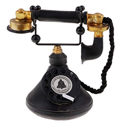 IPOTCH Teléfono Antiguo Pasado De Moda para La Decoración De La Oficina En Casa Juguetes para Niños - 7111-34, Individual