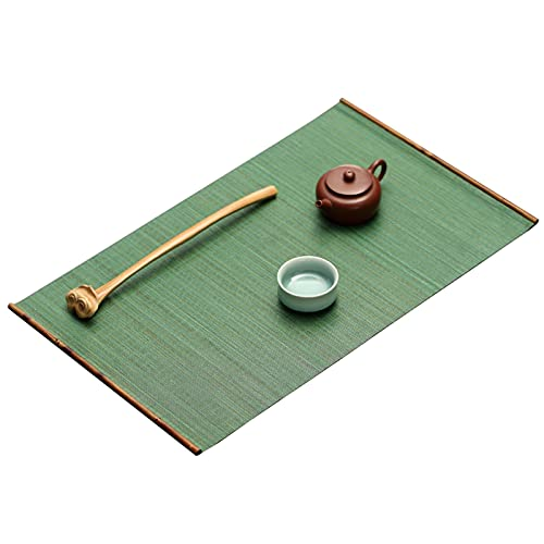 SDFVSDF Table Runner Emerald Gree Table Runner 46cm X 30cm, Japanese Style Bamboo Placemats/Tea Table Coaster, for Bridal Shower/Birthday Gift/Happy New Home (Size : Without bamboo box)