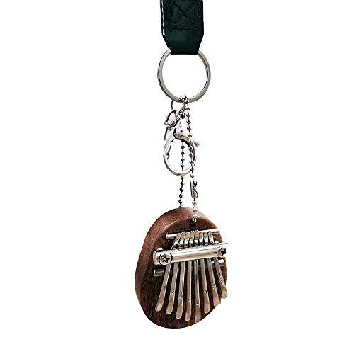 Detazhi 8 Keys Kalimba Mini Tragbare Daumen Klavier Finger Percussion Tastatur Tasche Musikinstrument Spielzeug Anhänger für Kind
