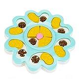 YUIP Pet Bowl Feeder Toys, Pet Dog Training Games Feeder, Puzzle Perro alimentador de Juguete, Juguete del Perro Alimentador Lenta Tratar (Azul)