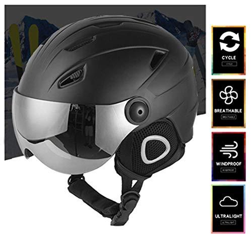 Skihelm met bril voor heren en dames, snowboardhelm met uv-bril, anti-condens, warm en comfortabel, beschermingsuitrusting voor skiën, snowboarden en motorfietsen