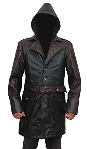 AngelJackets Assassins Creed Syndicate Giacobbe Frye Coat Black And Brown XXX-Large