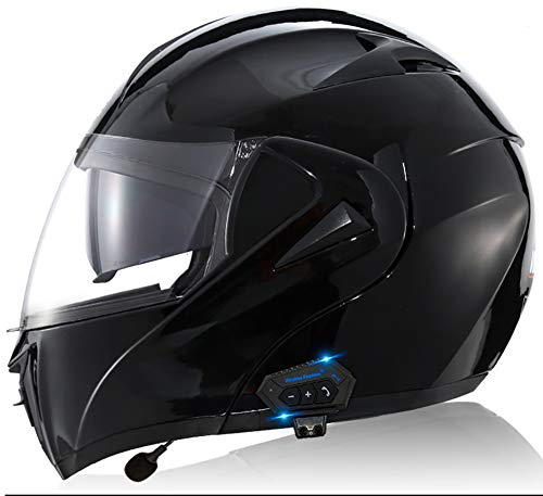 Casco Modular De Motos,Casco De Moto Con Bluetooth Integrado ECE Para Patinete Electrico Motocicleta Bicicleta Scooter Con Gafas De Doble Protección Mujer Y Hombre 3,M