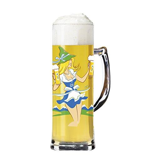 Ritzenhoff Seidel bierglas, glas, meerkleurig, 8 cm