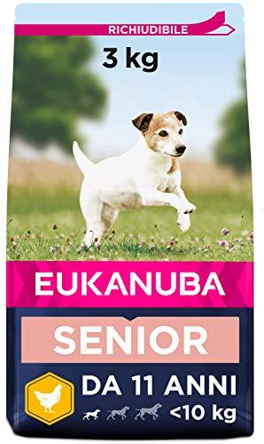 EUKANUBA Cibo Secco per Cani per la Cura dei Cani Anziani di Taglia Piccola, Ricco di Pollo Fresco, 3 kg