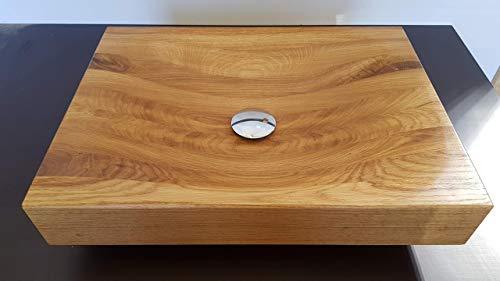 Holzwaschbecken WB1 mit Armaturbohrung