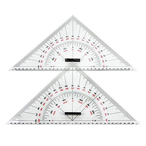 Basage Regla de TriáNgulo de Dibujo GráFico para Dibujo de Barco Regla de TriáNgulo a Gran Escala de 300 Mm para la MedicióN de Distancia Ense?Ando Dise?O de IngenieríA