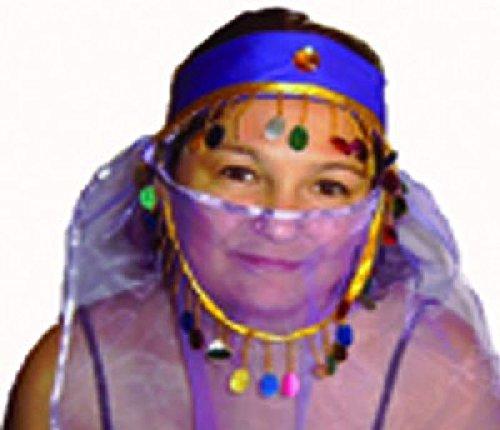 Mondial-Fete - Coiffe Orientale Voile Femme