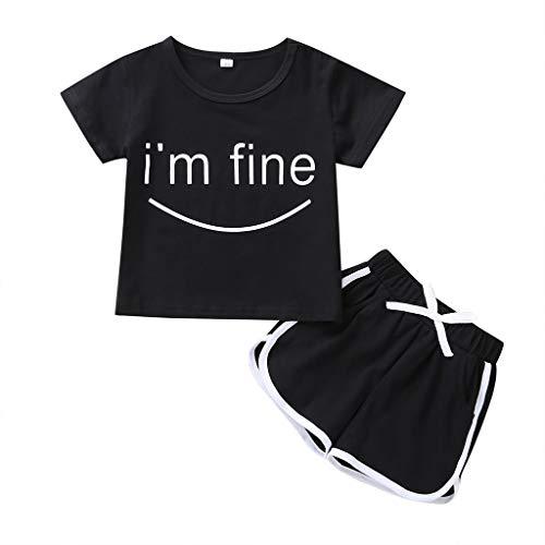 Julhold 2 STKS Peuter Kids Baby Meisje Jongen Mode Vrije tijd Comfortabele Letter T Shirt Tops Shorts Broek Kleding Set 0-5 Jaar