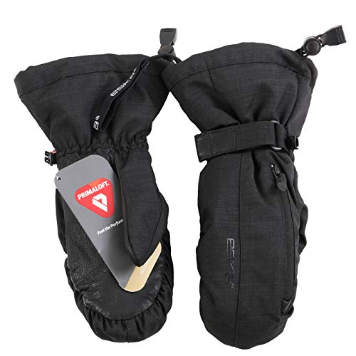 ESKA Sports Herren Ski Fäustling Handschuhe WARM X Mitten Reloaded Black 3040 ((XL) 9,5)