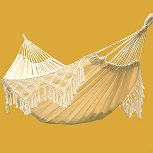 ZCXBHD hangmat voor camping, reizen, bohemian-eik, Braziliaans, met opbergtas voor tuin, veranda, gebruik binnen en buiten