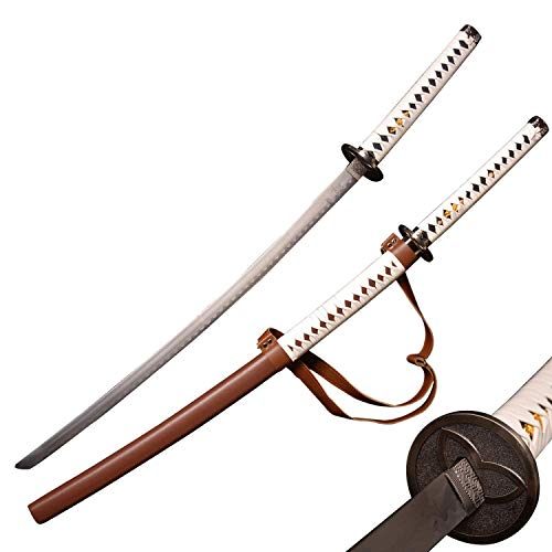 SV Katana from The Walking Dead Michonne, Zombie Nihontou Katana, 41 inches in Brown and White