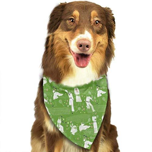 FunnyStar Hond Bandana Groen Sport Tennis Sjaals Accessoires Decoratie voor Huisdier Katten en Puppies