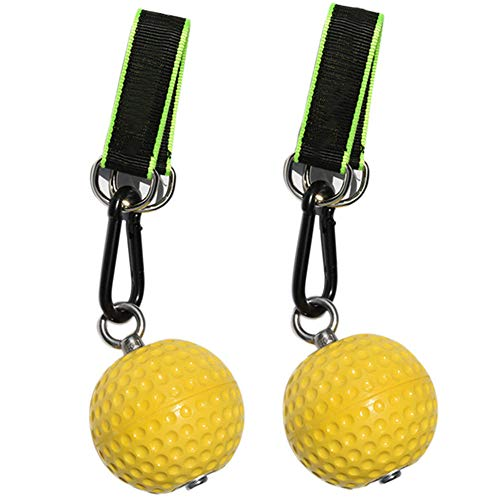 ANGOU Climbing Pull Up Power Ball Hold Grips Durable Non-Slip Hand Grips Strength Trainer Exerciser-97mm