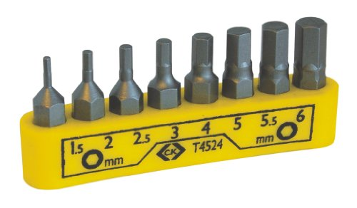 C.K T4524 Hexagon Screwdriver Bit Set, Grey, M2