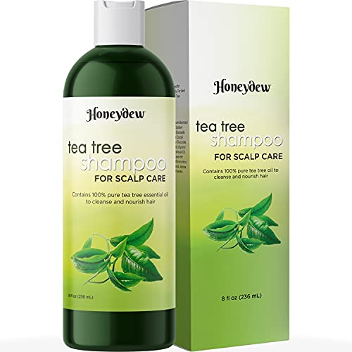 Tea Tree Shampoo for Oily Hair - Sulfate Free Pure Tea Tree Oil Shampoo for Oily Scalp Care and Deep Clarifying Shampoo for Build Up - Cleansing Oily Hair Shampoo with Tea Tree Oil for Hair Care
