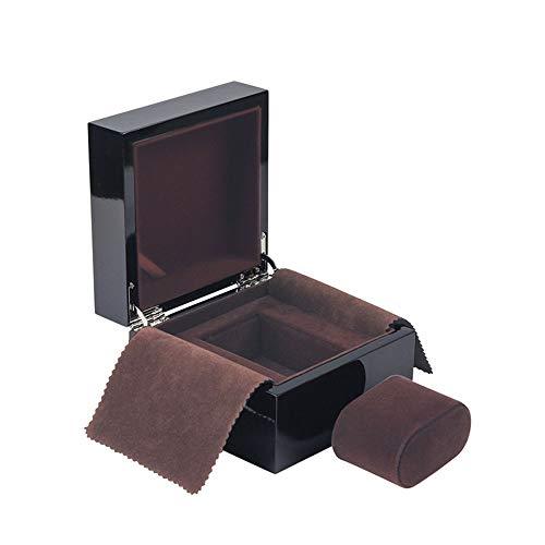 watch box Einrichtungsgegenstand schwarz glänzend lackgürtel hölzerner uhrkasten uhranzeigekasten einfach weiches Futter mit Deckel Uhr verpackung Kasten