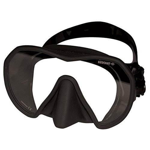 BEUCHAT Maxlux 'S' Silikon-Maske mit niedrigem Volumen, Schwarz