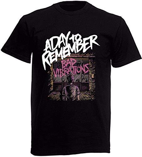 A Day to Remember Bad Vibrations Herren T-Shirt, Schwarz, Größen S-XXXL Gr. XXL, Schwarz
