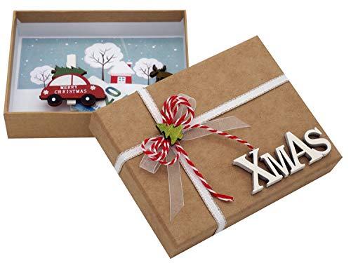 ZauberDeko Geldgeschenk Verpackung Weihnachten Auto Xmas Natur Geschenk Gutschein