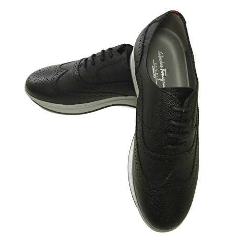 [SALVATORE FERRAGAMO] [フェラガモ] スニーカー 靴 メンズ レザー MARLOW レースアップ ブローグデザイン (メーカーサイズ:8.5) SF-2065 [並行輸入品]