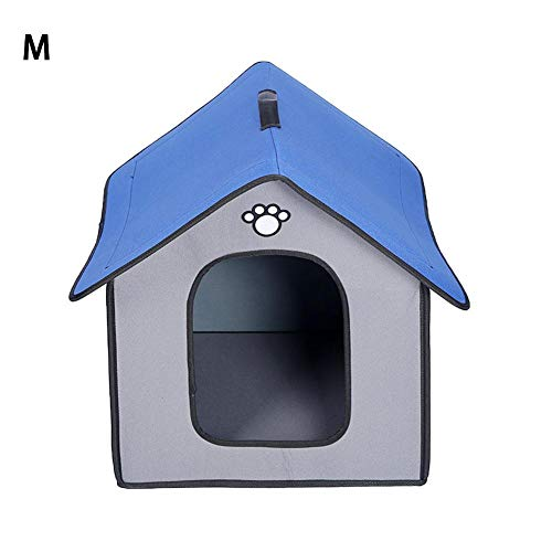 Blentude Warme Hundehütte Regenfeste, wasserdichte Hundehütte und Zwinger mit herausnehmbarem Innenpolster zum Schlafen im Innen- und Außenbereich