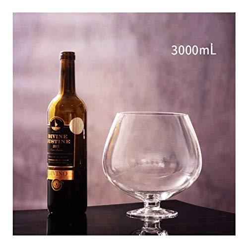 SHTSH 2000ml - 4000ml Divertente del Partito Vetro Vino / / Cocktail Glass Coppa di Vetro di Cristallo Bicchieri di Vino Bicchiere di Whisky Bicchiere da Birra (Color : 3L)