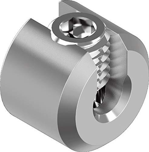 ARBO-INOX Seilstopper Drahtseil Klemme Drahtklemme Drahtseil Edelstahl VA4 Größe 2 mm Seil