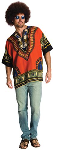 Rubie's Costume Heroes And Hombres Men's Hippie Shirt And Wig