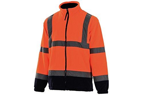 PORTWEST Fleece mit Anti-Pilling-Ausrüstung, 300 g, 100% Polyester, 1 Stück, XXXL, orange/marine, F301ONRXXXL