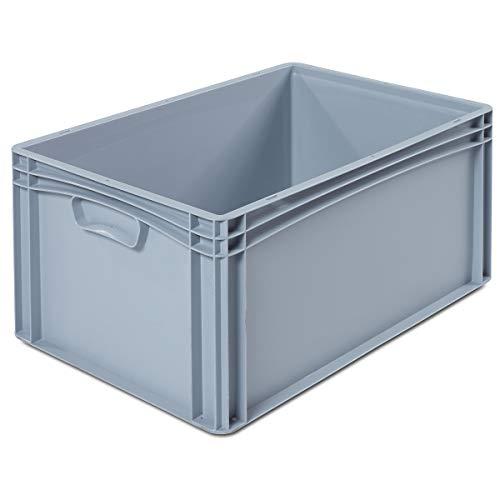 VECTURA Euronorm-Behälter - LxB 600 x 400 mm, Wände und Boden geschlossen - Höhe 270 mm - Box Boxen EUR-Stapelbehälter Euronorm-Stapelkasten Euronorm-Stapelkästen Lagerbehälter Lagerkasten Lagerkästen Mehrzweckbehälter Vielzweckbehälter