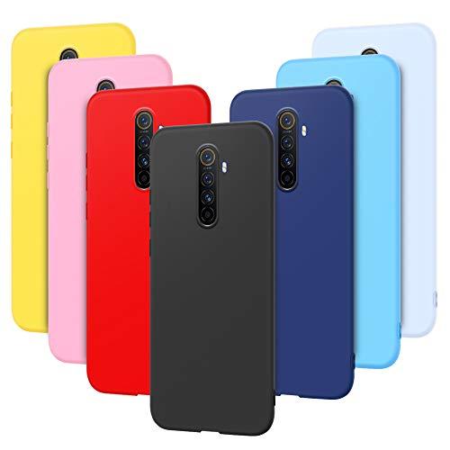 7 x Funda para OPPO Realme X2 Pro Carcasa Suave Silicona, E-Lush Funda Realme X2 Pro Caso Ultra Delgado Flexible Gel TPU Goma Case Cover Anti-Arañazos Protector, Color 4