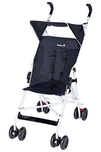 Safety 1st Peps, kompakter, leichter Buggy mit Sonnenverdeck, aus pflegeleichtem Material, schwarz/weiß