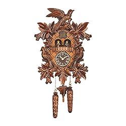 Trenkle Quartz Cuckoo Clock with Music 7 Leaves, 3 Birds TU 369 QMT HZZG