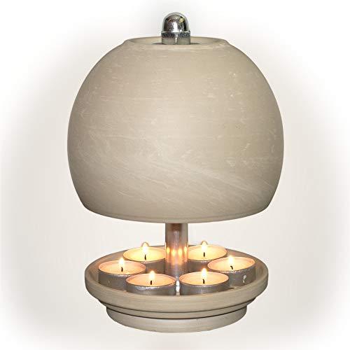 HP-TLO-Serie-K-W-XL-25/16-7 Kerzen, Teelichtlampe Teelichthalter Teelichtofen Stövchen Meditationszubehör Kerzenhalter Teelichter + Feuerzeug GRATIS